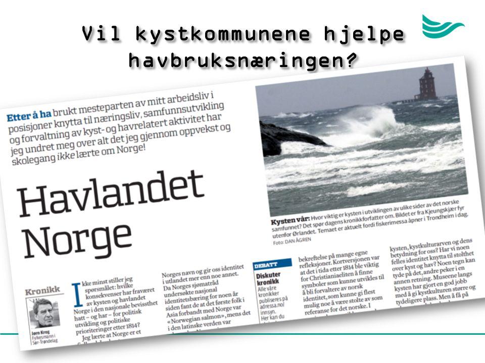 Vil kystkommunene hjelpe havbruksnæringen?