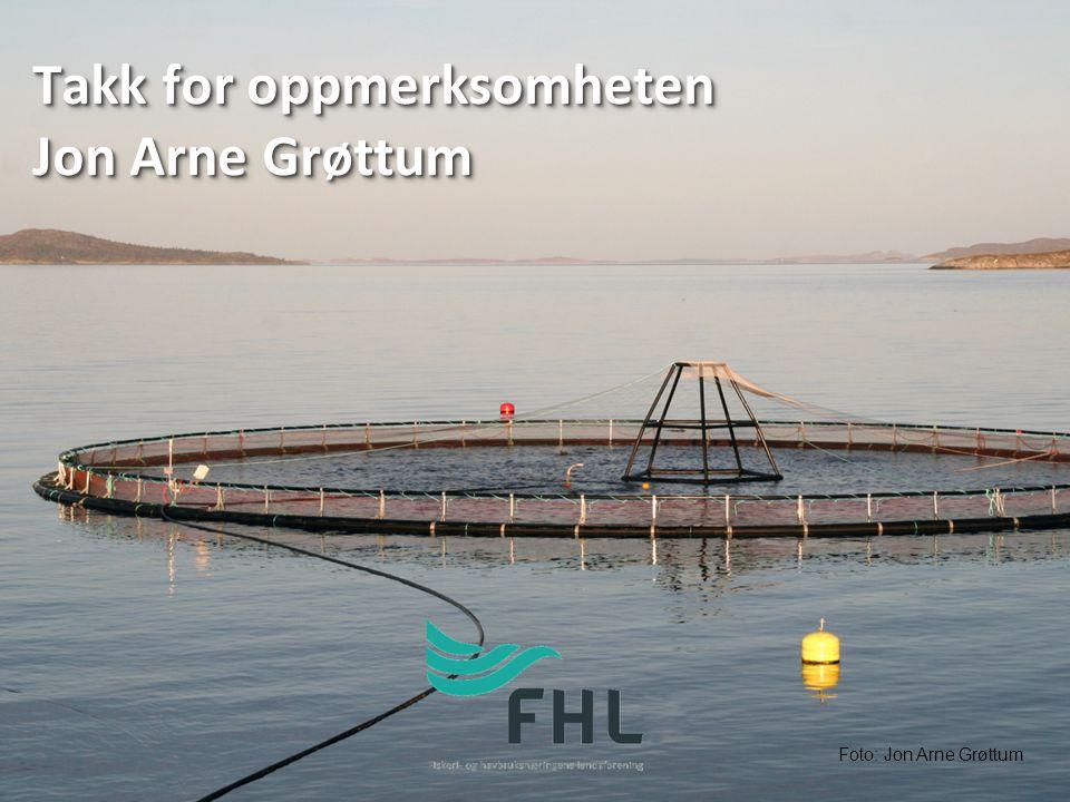 Takk for oppmerksomheten Jon Arne Grøttum Foto: Jon Arne Grøttum