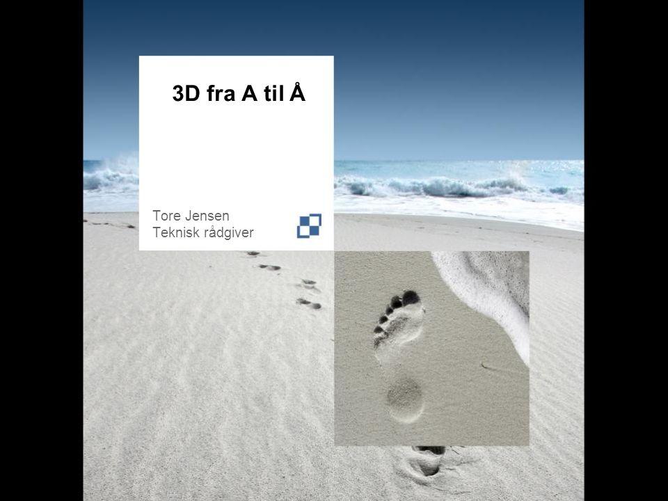 3D fra A til Å Tore Jensen Teknisk rådgiver