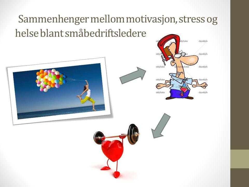 Sammenhenger mellom motivasjon, stress og helse blant småbedriftsledere