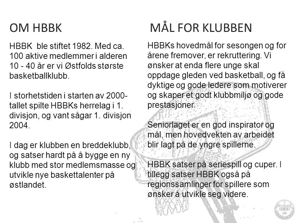 MÅL FOR KLUBBEN HBBKs hovedmål for sesongen og for årene fremover, er rekruttering.