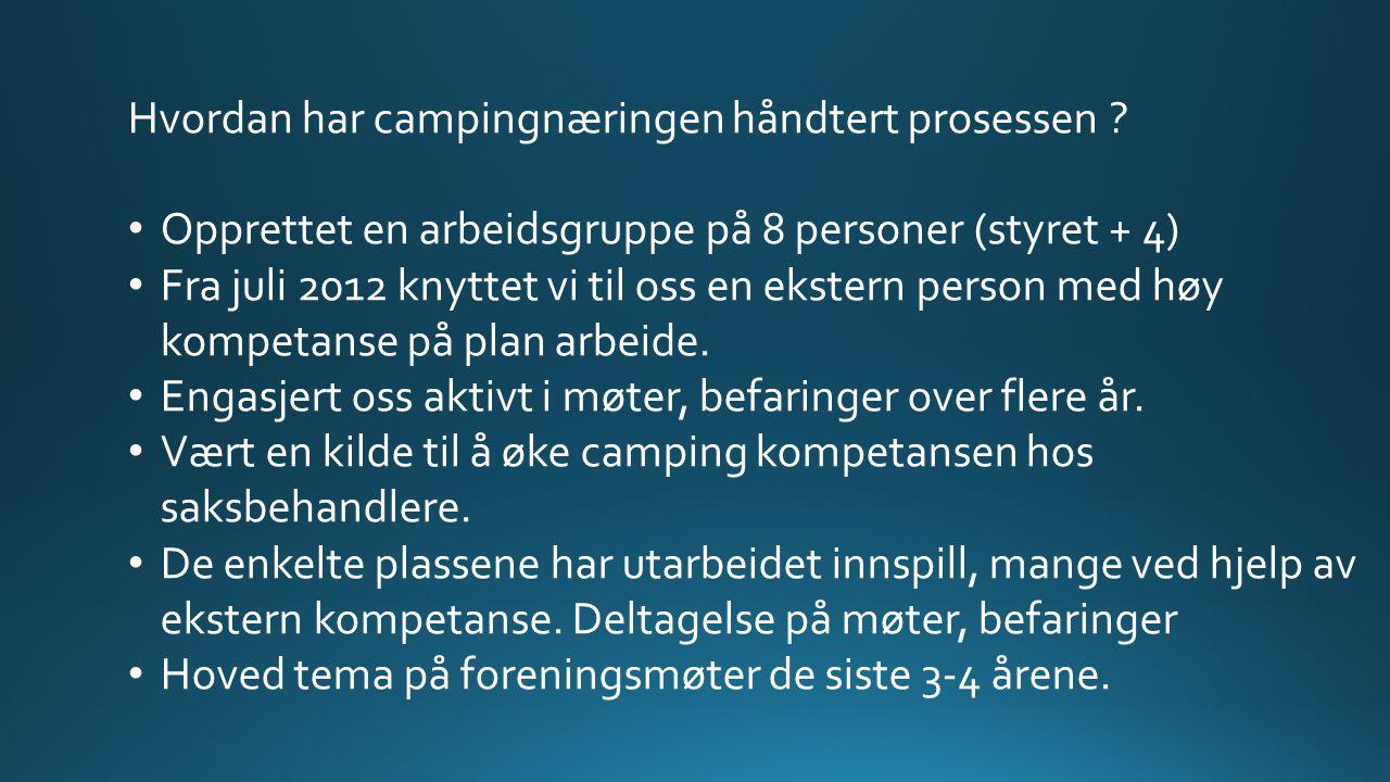 Hvordan har campingnæringen håndtert prosessen .