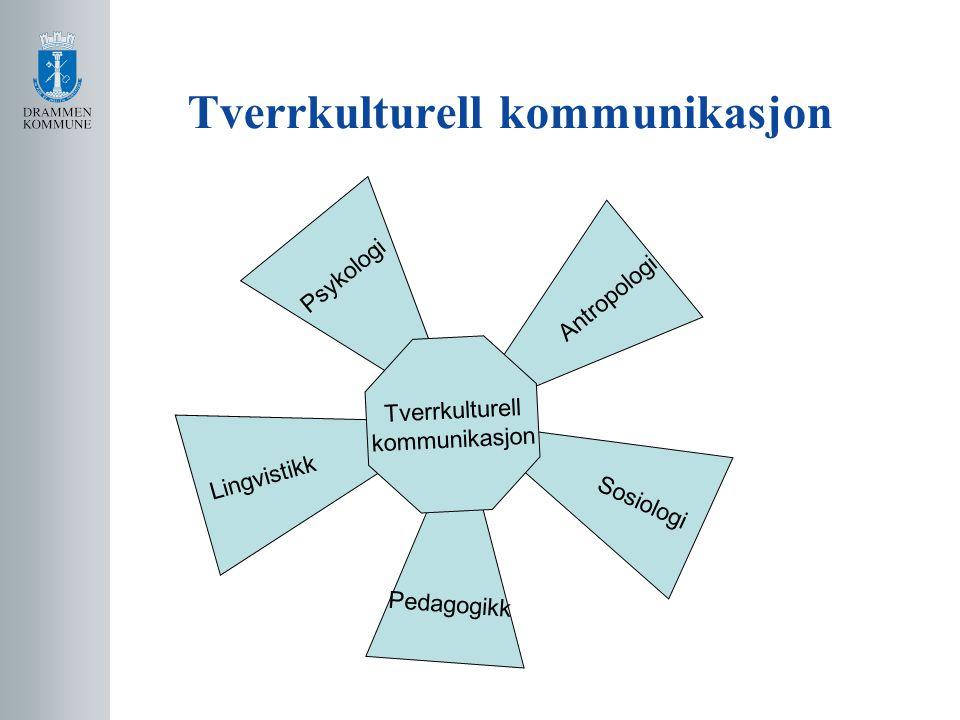 Tverrkulturell kommunikasjon Psykologi Antropologi Pedagogikk Sosiologi Lingvistikk Tverrkulturell kommunikasjon