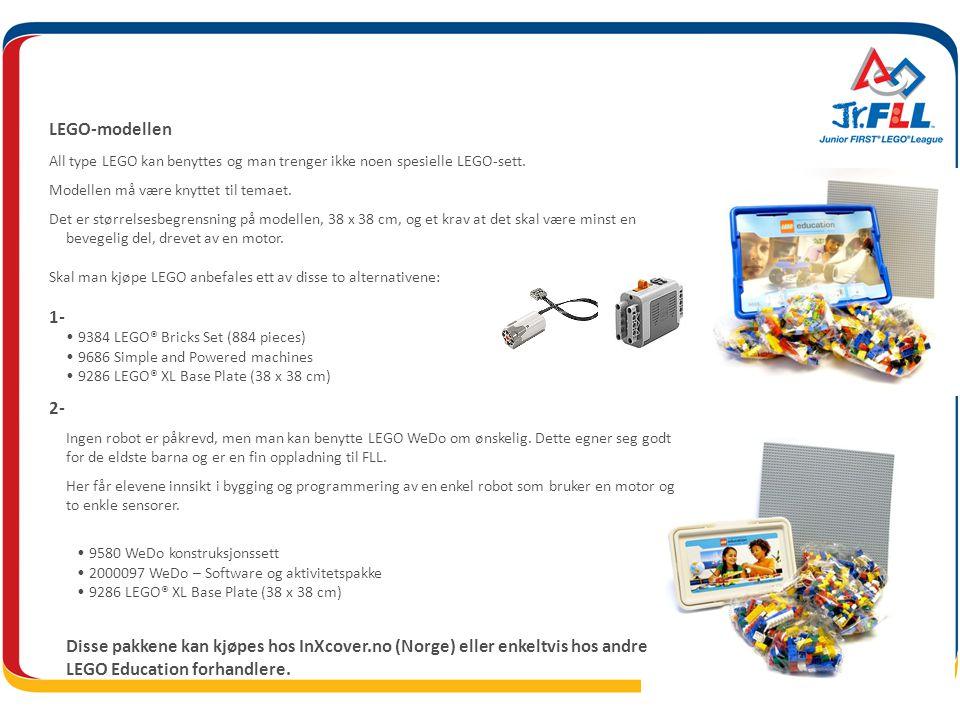 LEGO-modellen All type LEGO kan benyttes og man trenger ikke noen spesielle LEGO-sett.