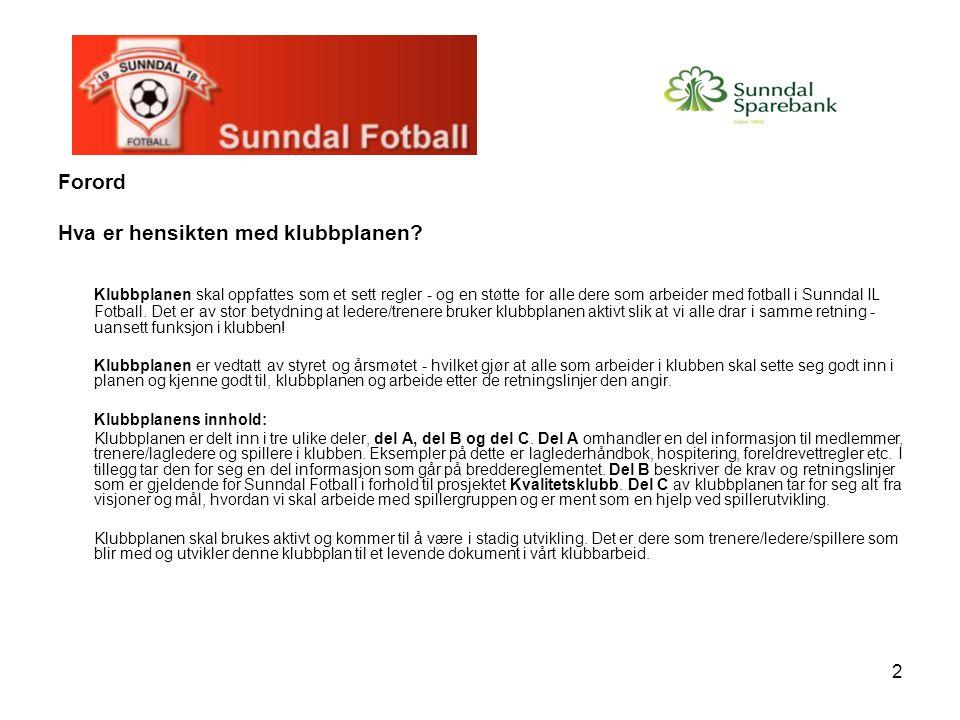 33 Til trenere/lagledere: Fotball skal være morsomt og utøves i trygge og inkluderende omgivelser.