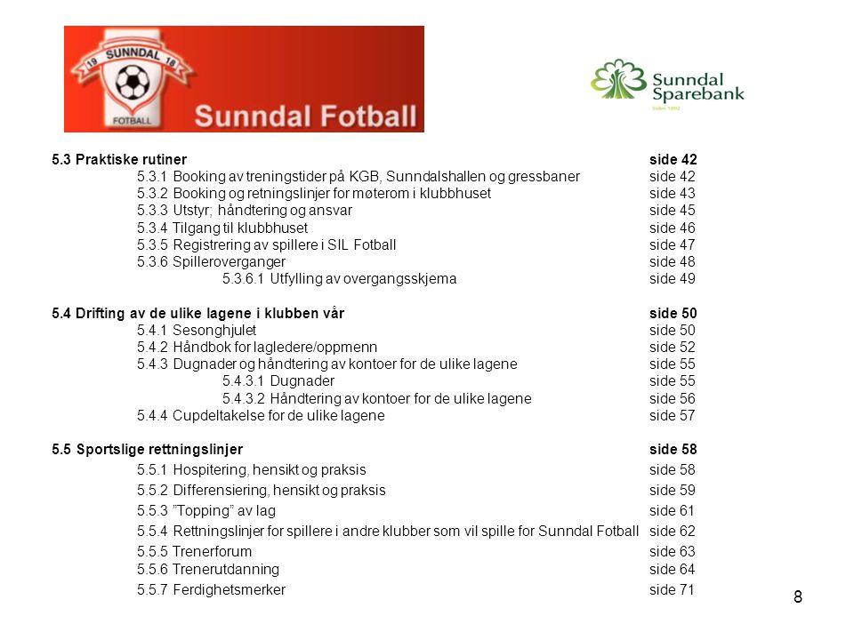29 5.1.5 Kontingent og treningsavgift Kontingent Medlemskontingenten må betales for at spiller skal være medlem i klubben, og spilleberettiget.