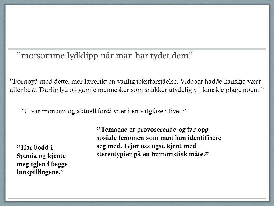 Increased activity Increased relevance Improve sound quality Jørgen Yri – tlf 938 09 069 jorgen.yri@ntnu.no www.kosmikomiko.com Expand (America) Some conclusions