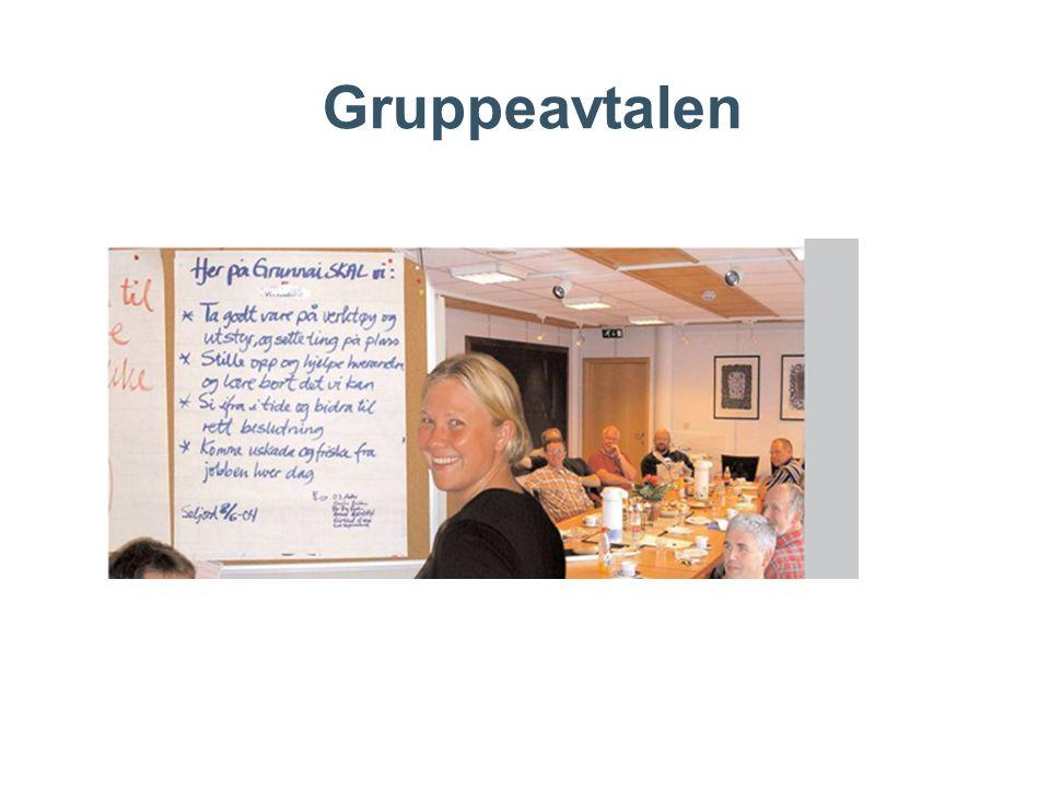 Gruppeavtale – eksempel 1.Vi skal gi hverandre konstruktiv tilbakemelding her og nå 2.