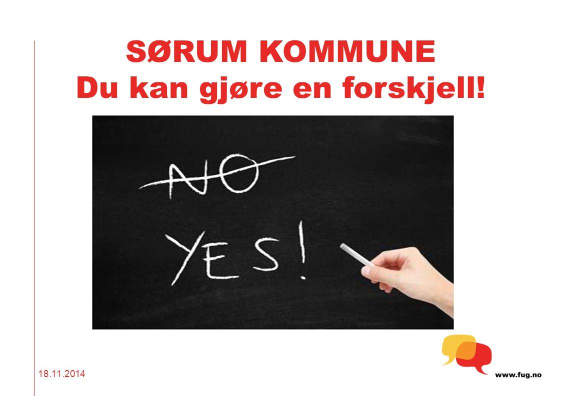 SØRUM KOMMUNE Du kan gjøre en forskjell! 18.11.2014
