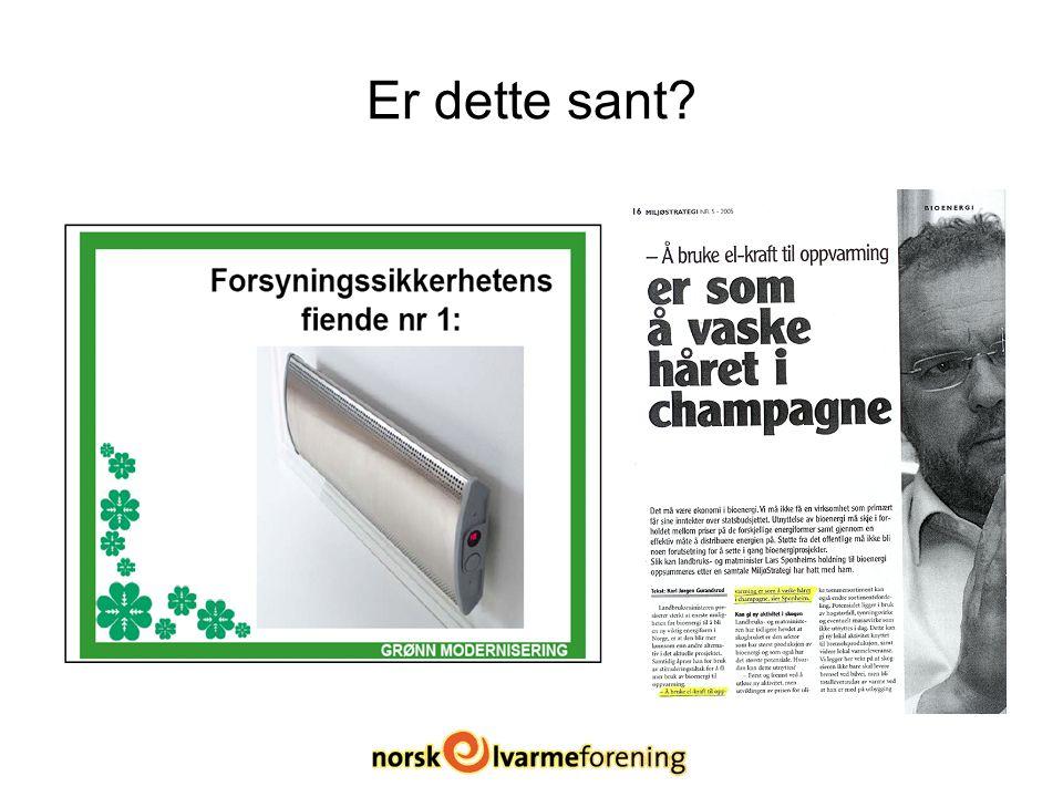 Energibruk i norske husholdninger