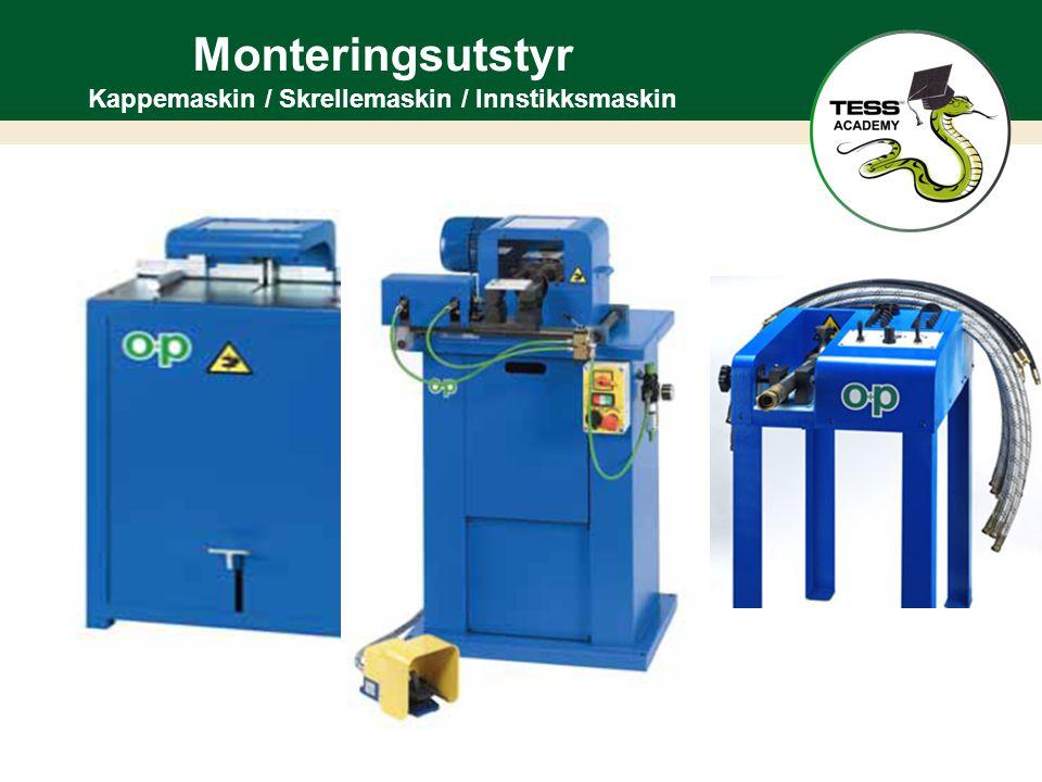 Monteringsutstyr Kappemaskin / Skrellemaskin / Innstikksmaskin