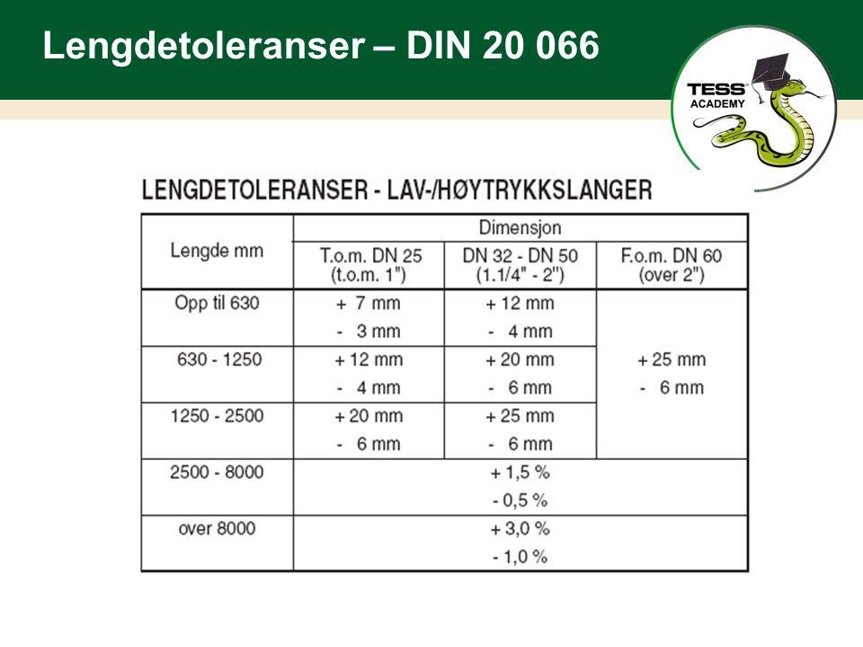 Lengdetoleranser – DIN 20 066