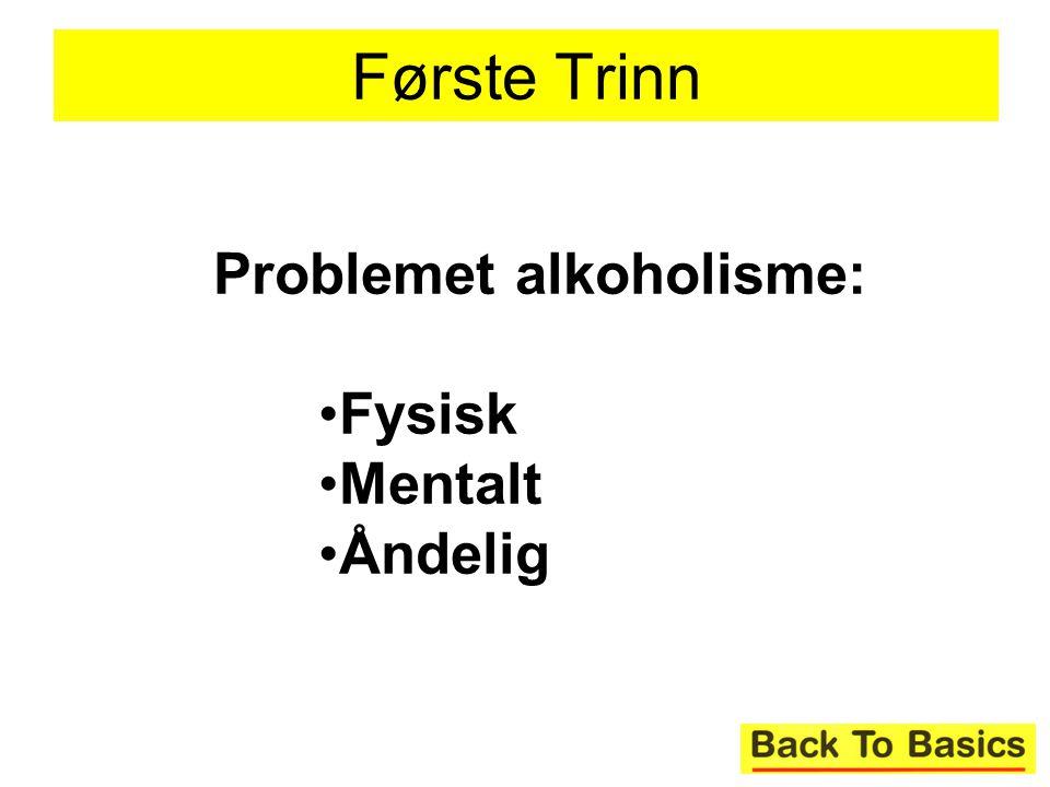 16 Første Trinn Problemet alkoholisme: Fysisk Mentalt Åndelig