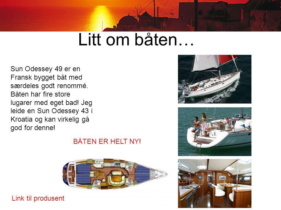 Litt om båten… Sun Odessey 49 er en Fransk bygget båt med særdeles godt renommé.