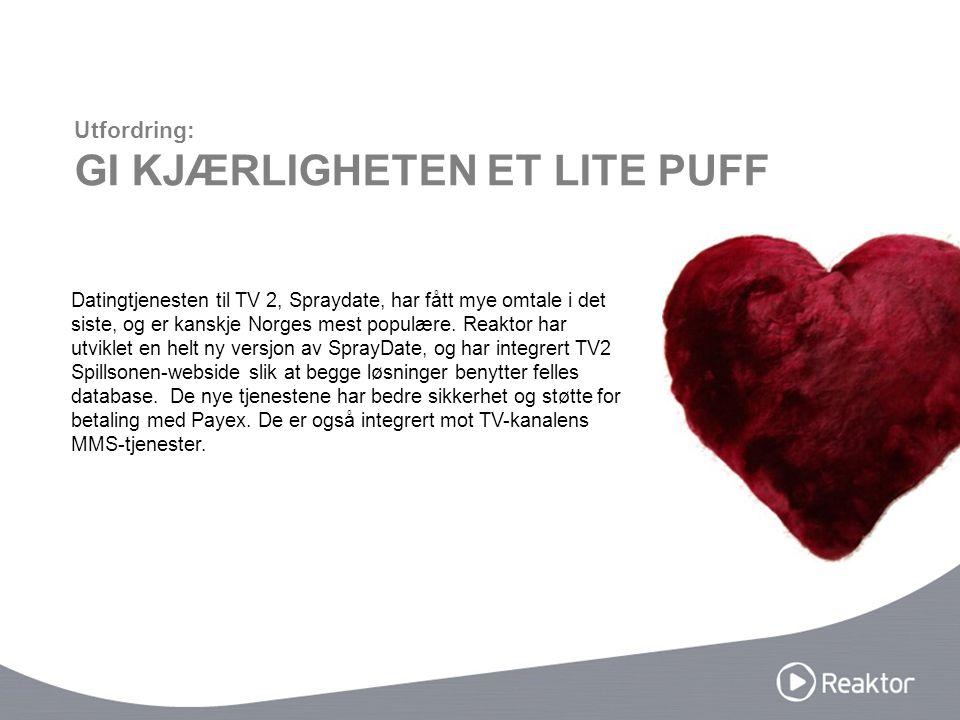 Datingtjenesten til TV 2, Spraydate, har fått mye omtale i det siste, og er kanskje Norges mest populære. Reaktor har utviklet en helt ny versjon av S
