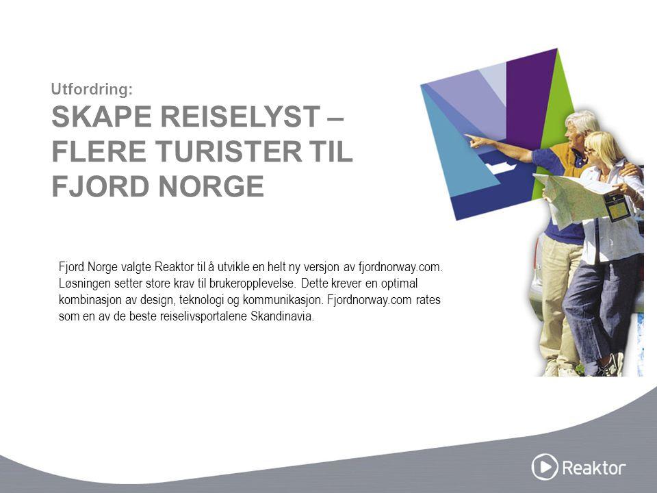 Fjord Norge valgte Reaktor til å utvikle en helt ny versjon av fjordnorway.com. Løsningen setter store krav til brukeropplevelse. Dette krever en opti