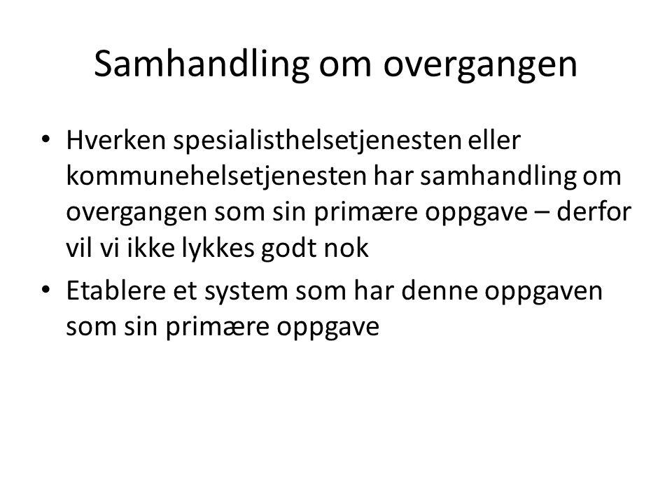 Overgang sykehus – kommunehelsetjenesten Rapport Kunnskapssenteret nr.