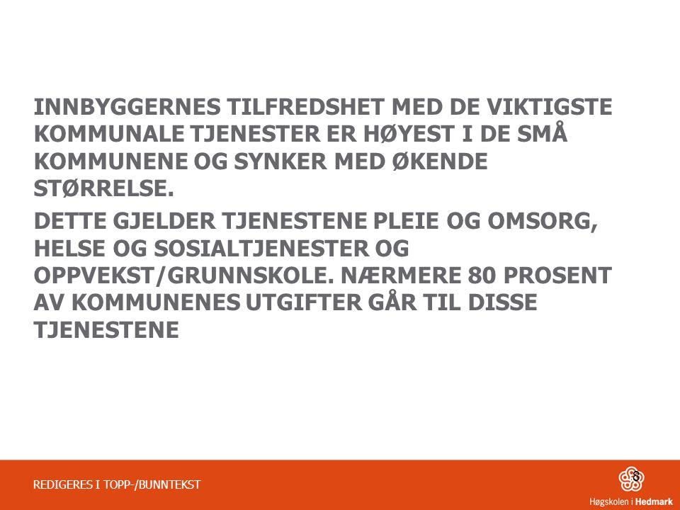 GJENNOMSNITTSSKÅR BARNEHAGE, SFO, GRUNNSKOLE, BARNEVERN OG SYKEHJEM