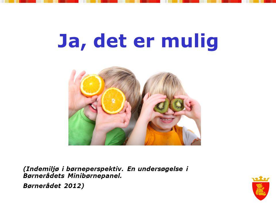 Ja, det er mulig (Indemiljø i børneperspektiv. En undersøgelse i Børnerådets Minibørnepanel. Børnerådet 2012)