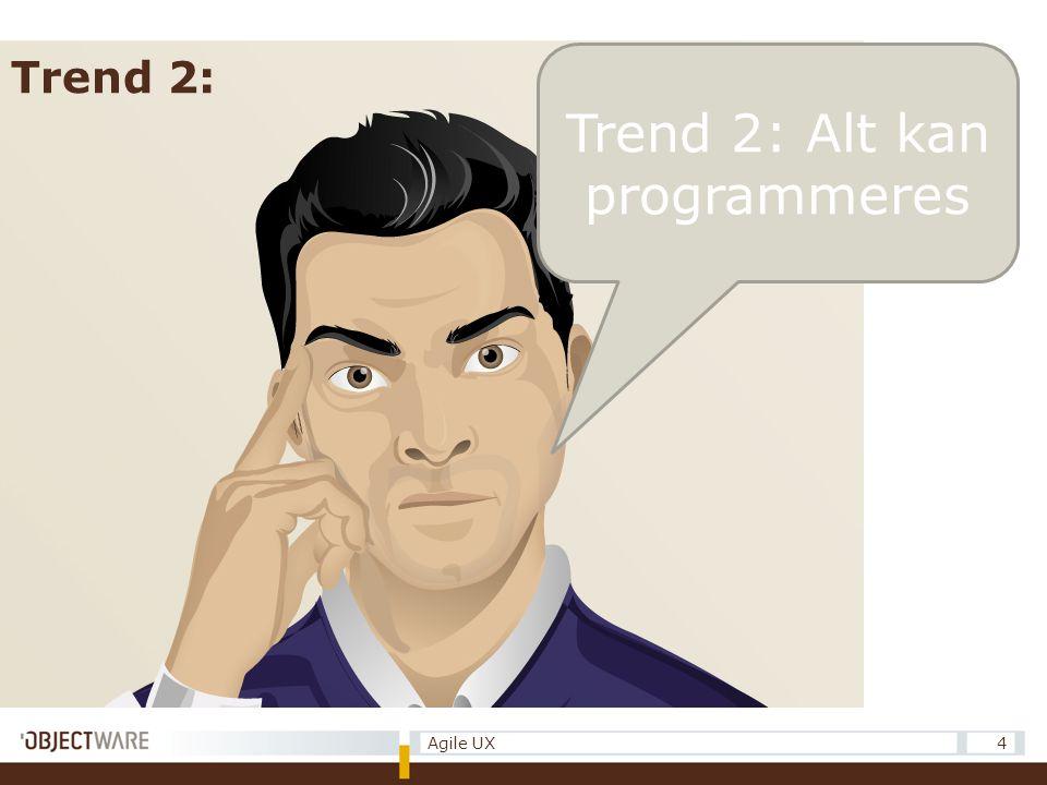 Trend 2: Alt kan programmeres 4Agile UX Trend 2: