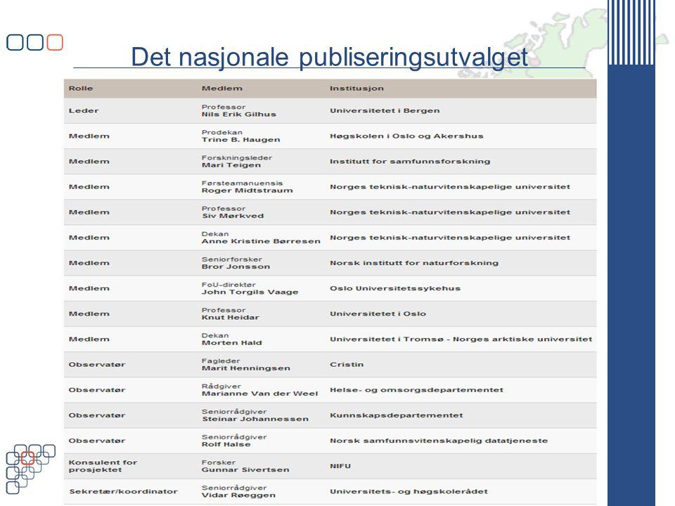 www.uhr.no uhr@uhr.no Det nasjonale publiseringsutvalget