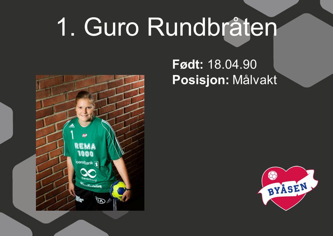 12. Terese Pedersen Født: 27.04.80 Posisjon: Målvakt