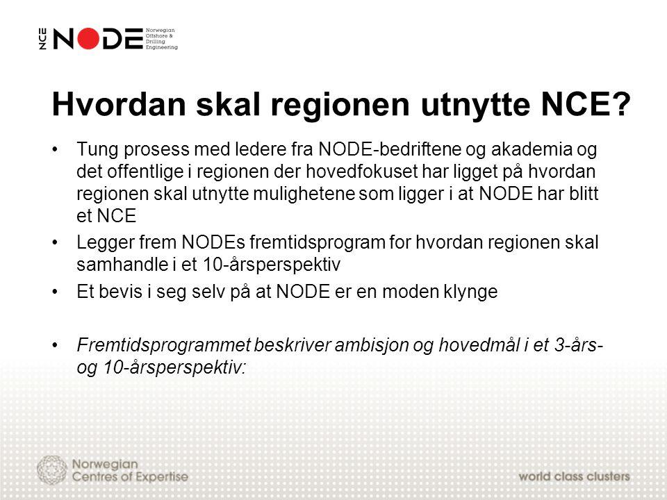 Hvordan skal regionen utnytte NCE? Tung prosess med ledere fra NODE-bedriftene og akademia og det offentlige i regionen der hovedfokuset har ligget på