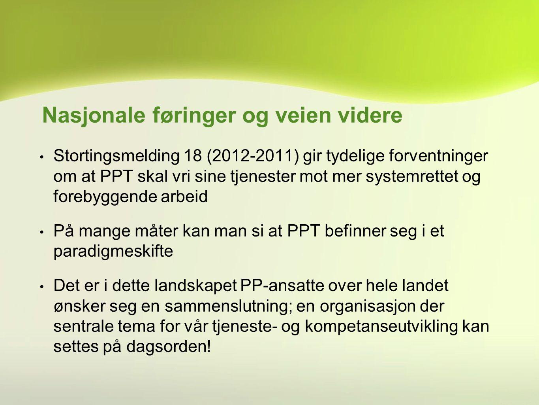 Stortingsmelding 18 (2012-2011) gir tydelige forventninger om at PPT skal vri sine tjenester mot mer systemrettet og forebyggende arbeid På mange måte