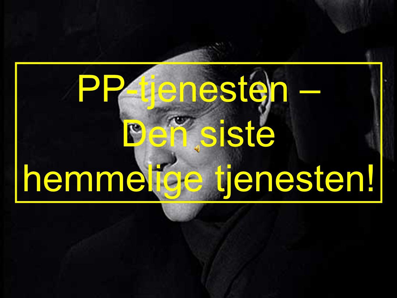 HVORFOR TRENGER NORGE ET FAGLIG RÅD FOR PP- TJENESTEN.