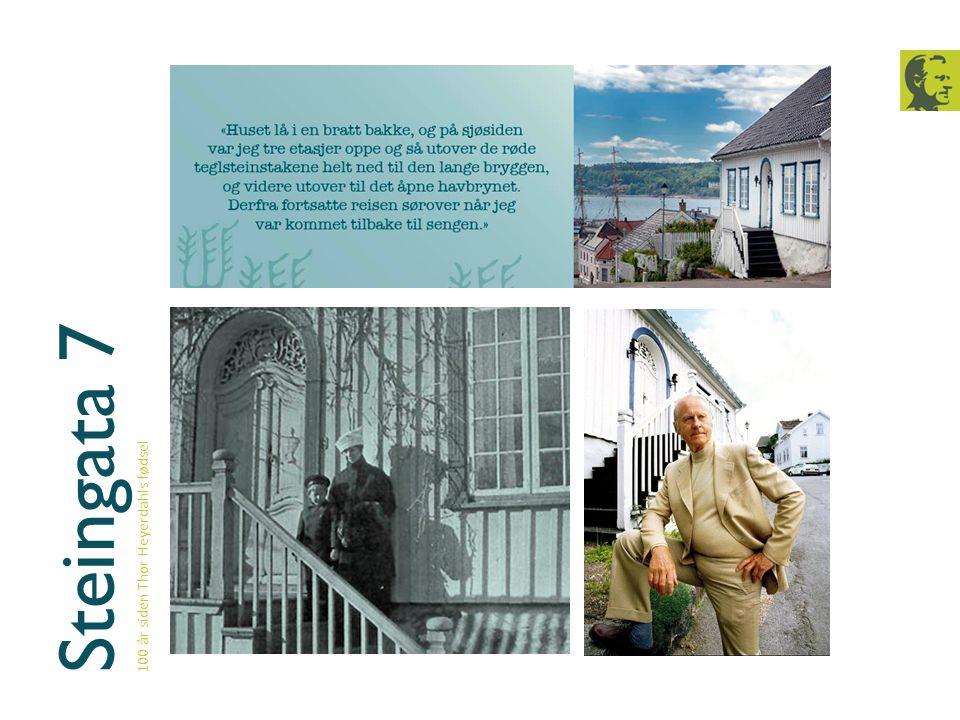 1933 100 år siden Thor Heyerdahls fødsel Etter fullført artium begynte Thor å studere biologi og geografi ved Universitetet i Oslo.