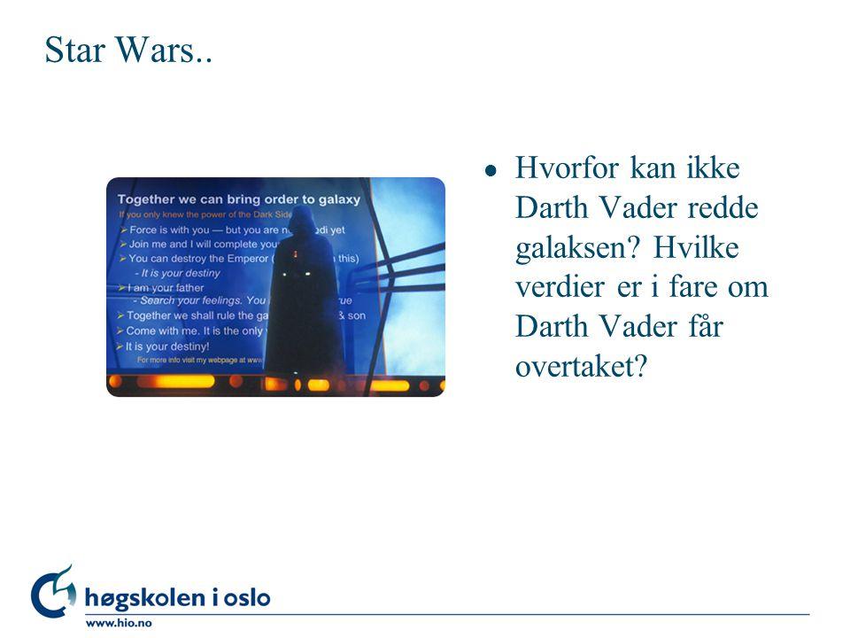 Star Wars.. l Hvorfor kan ikke Darth Vader redde galaksen.