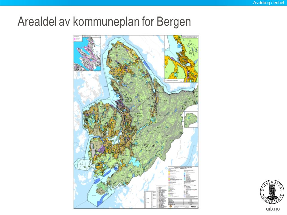 uib.no Bruk og vern: Kartlegging av dei ulike arealinteressene: Kva må vernast av omsyn til biologisk mangfald.