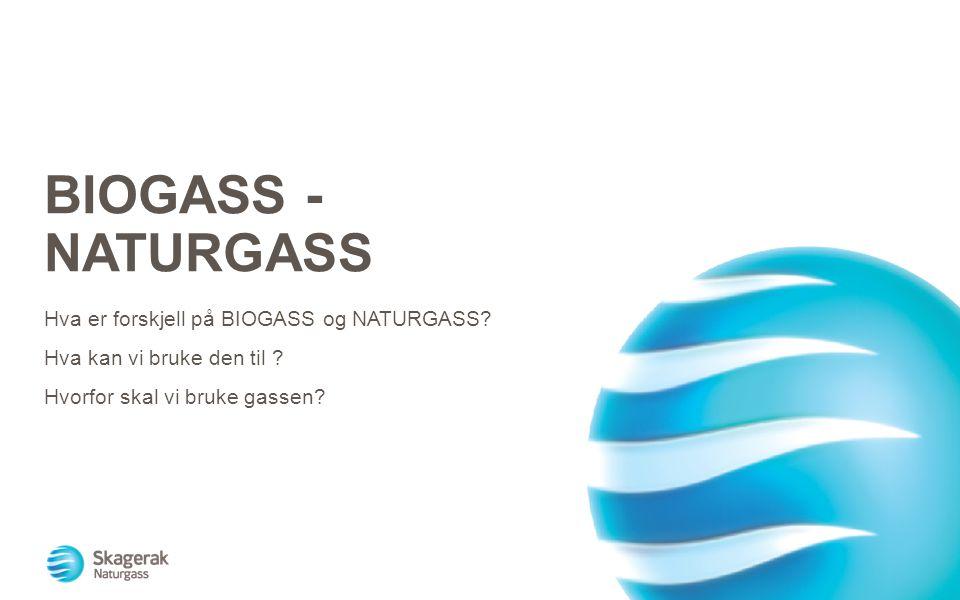 BIOGASS - NATURGASS Hva er forskjell på BIOGASS og NATURGASS? Hva kan vi bruke den til ? Hvorfor skal vi bruke gassen?
