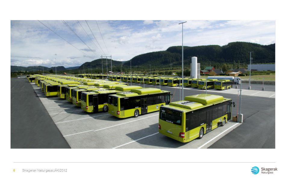 Gassbusser i Norge  Bergen 81  Trondheim 133  Haugesund 20  Stavanger 36  Fredrikstad 6-økes til 100  Oslo 36- økes til 1000  Grenland ca.