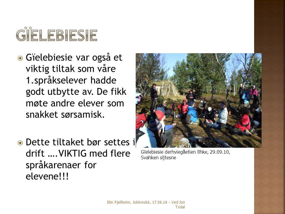  Gïelebiesie var også et viktig tiltak som våre 1.språkselever hadde godt utbytte av.