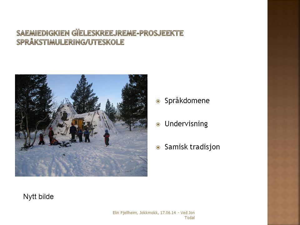  Språkdomene  Undervisning  Samisk tradisjon Elin Fjellheim, Jokkmokk, 17.06.14 - Ved Jon Todal Nytt bilde