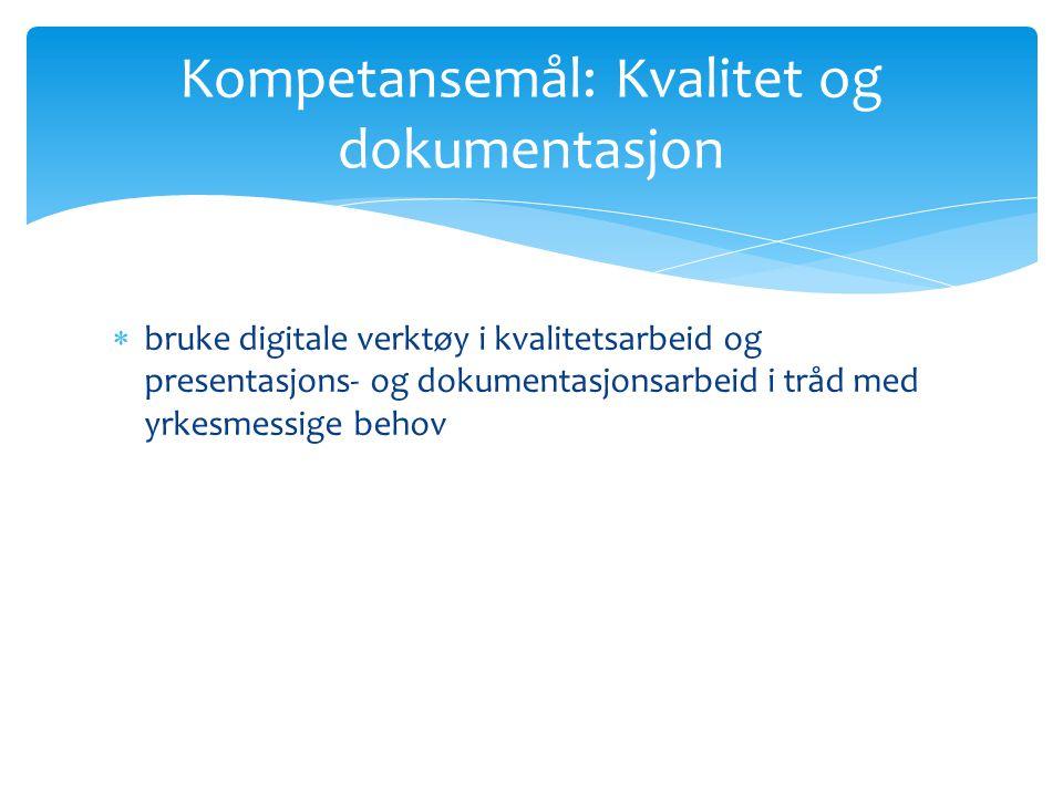  kombinere auditive, skriftlige og visuelle uttrykksformer og bruke ulike digitale verktøy i presentasjoner Kompetansemål - Norsk