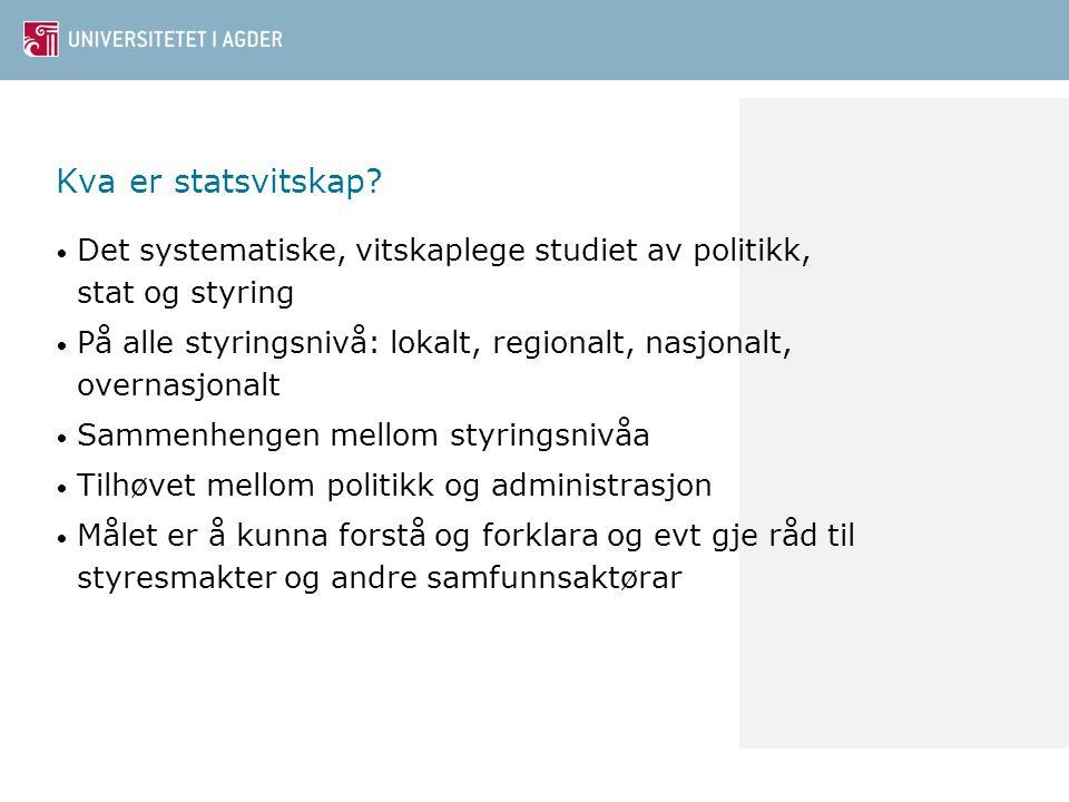 Kva er statsvitskap.