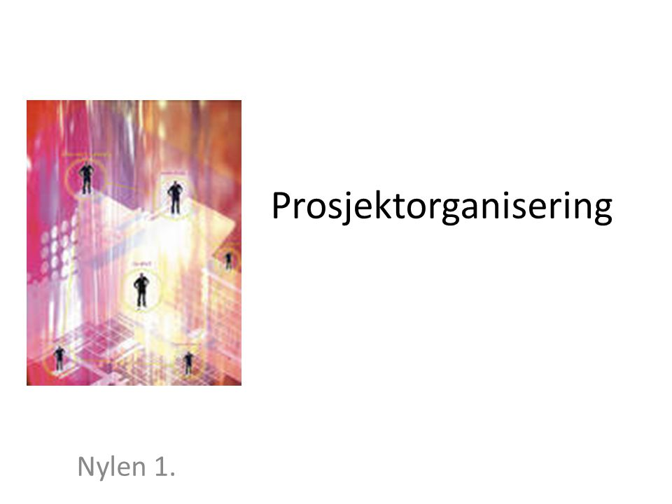 Prosjektorganisering Nylen 1.