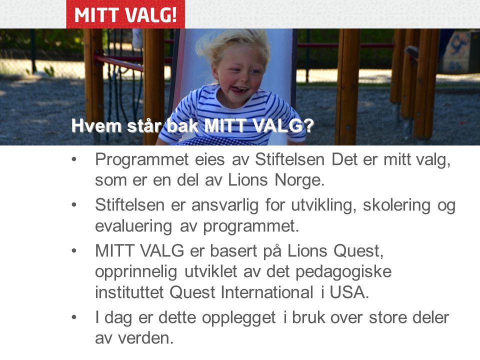 Programmet eies av Stiftelsen Det er mitt valg, som er en del av Lions Norge.