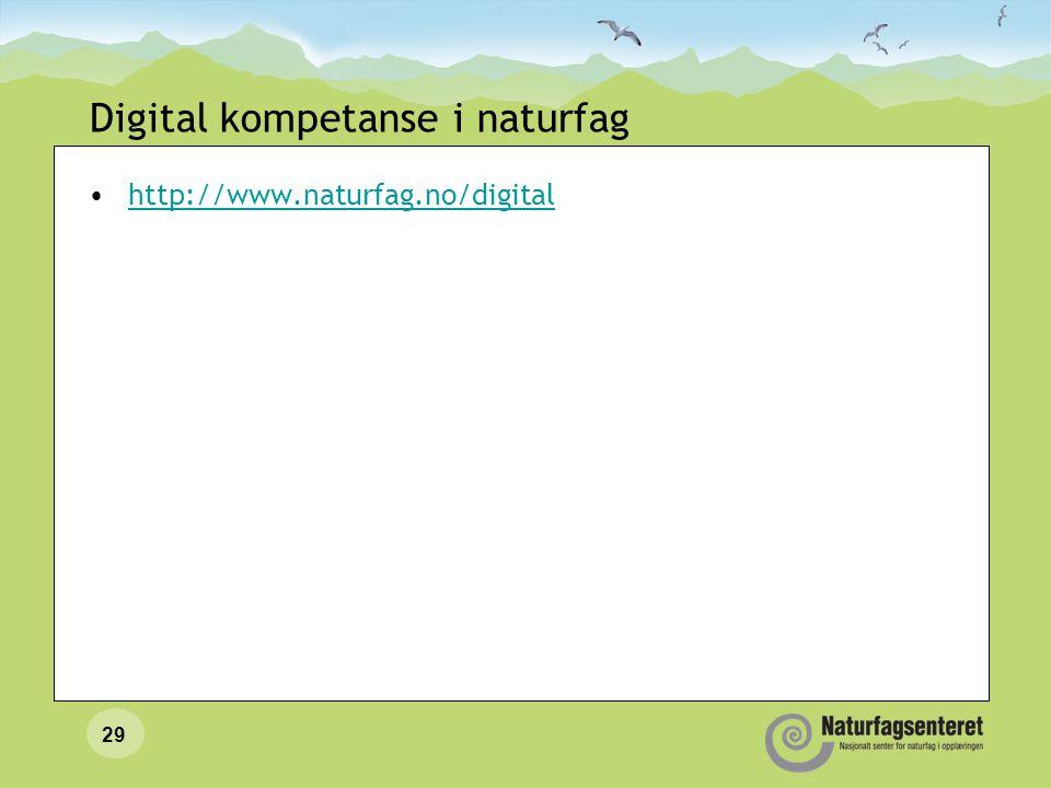 28 IKT bør også knyttes til andre kompetansemål Noen eksempler Kompetansemål etter 10.