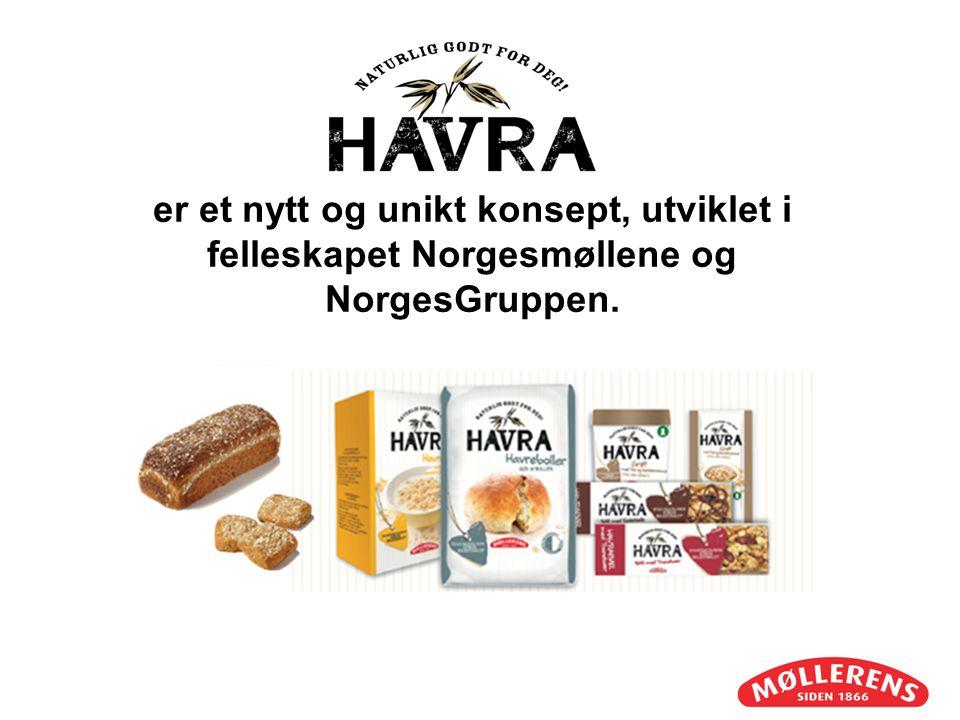 er et nytt og unikt konsept, utviklet i felleskapet Norgesmøllene og NorgesGruppen.