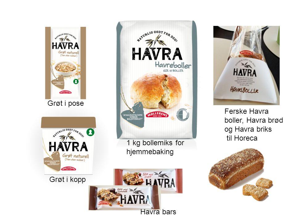 Grøt i pose Grøt i kopp Havra bars 1 kg bollemiks for hjemmebaking Ferske Havra boller, Havra brød og Havra briks til Horeca