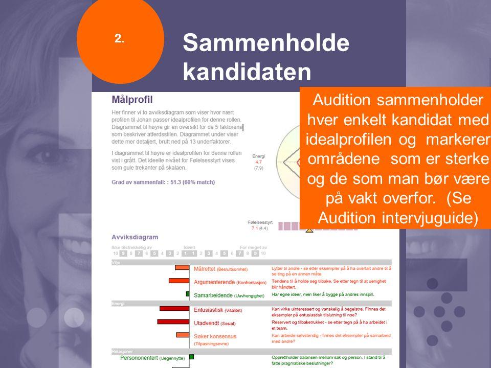 3 trinn til suksess Utarbeide stillingens idealprofil Sammenholde kandidaten Lage intervjuguide 1.2.3.
