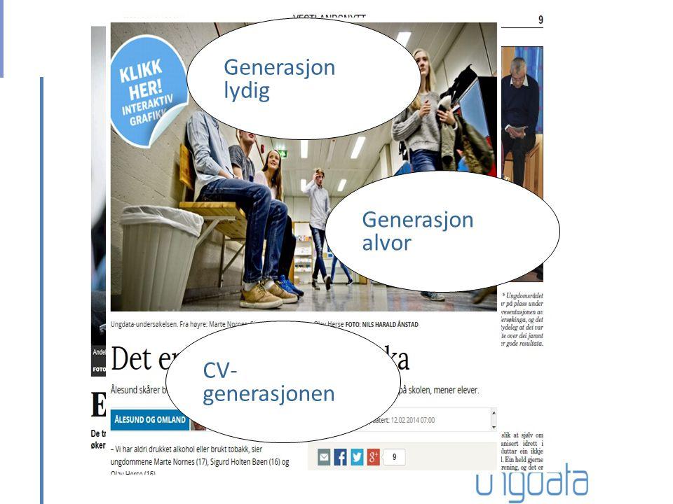 Generasjon lydig Generasjon alvor CV- generasjonen