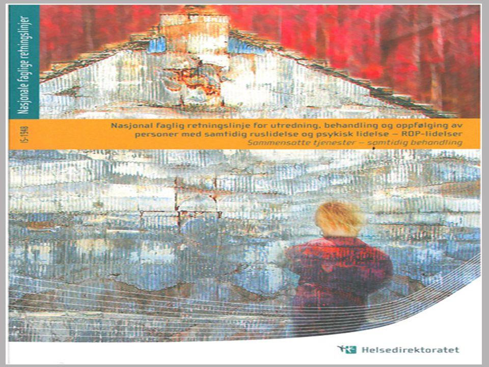 Norske studier fra kliniske populasjoner Mellom 20 - 47 % av pasienter ved akuttpsykiatriske avdelinger har problemfylt bruk av rusmidler Mellom 14 – 54 % av pasienter med psykose har problemfylt bruk av rusmidler Høyest forekomst ved akuttavdelinger og sikkerhets- avdelinger Ref.: Gråwe et al.