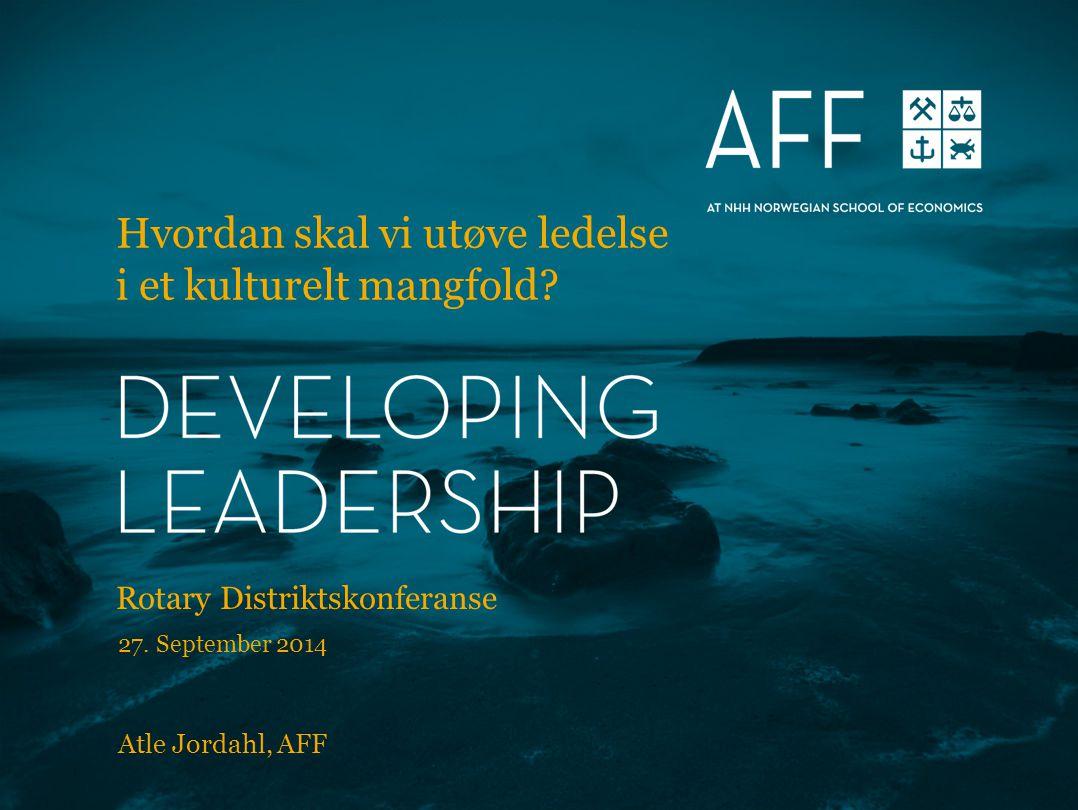 Hvordan skal vi utøve ledelse i et kulturelt mangfold.