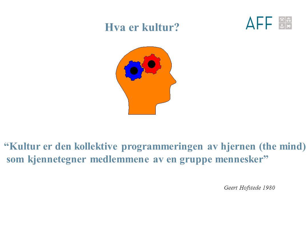 Kultur er den kollektive programmeringen av hjernen (the mind) som kjennetegner medlemmene av en gruppe mennesker Hva er kultur.