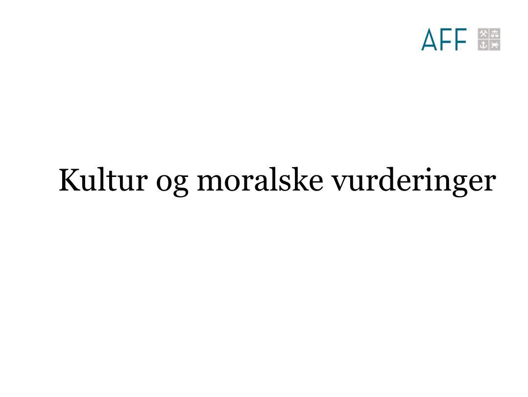 Kultur og moralske vurderinger