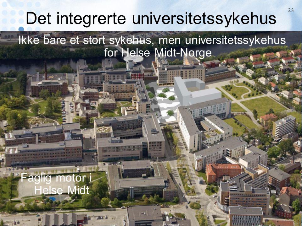 Johan F Skomsvoll Sentral stab St. Olavs Hospital HF 23 Det integrerte universitetssykehus Ikke bare et stort sykehus, men universitetssykehus for Hel